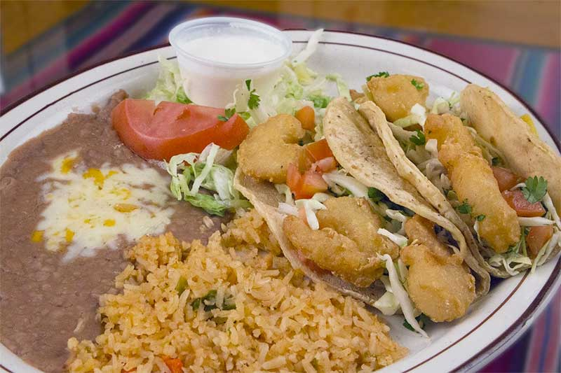 Sun Valley Mexican food plate