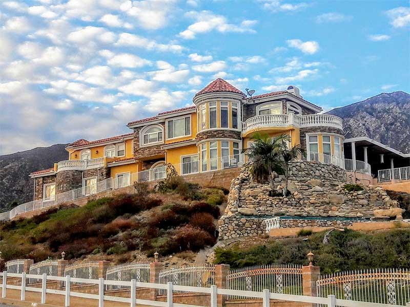 Sun Valley CA hillside mansion