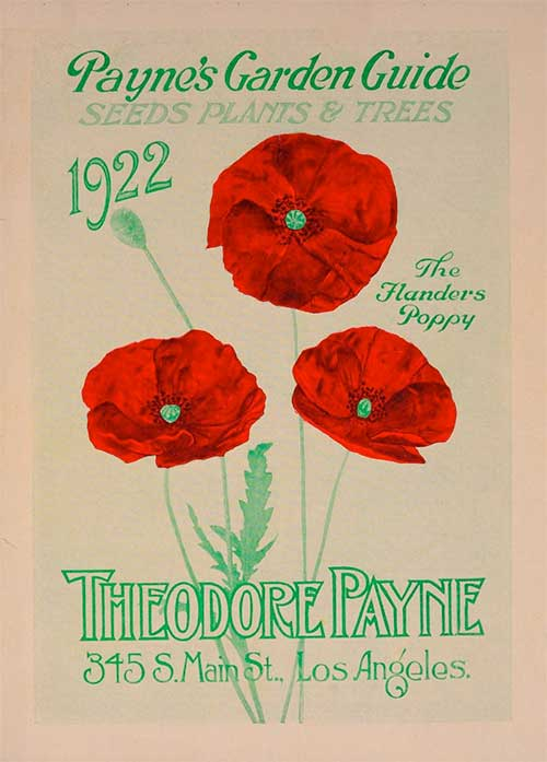 Theodore Payne poster early 20th century