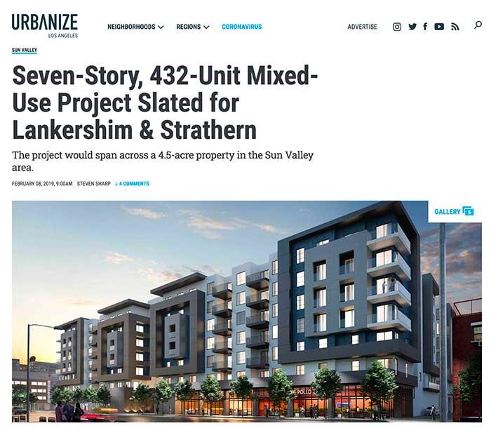Sun Valley CA apartment plan Jose Mier