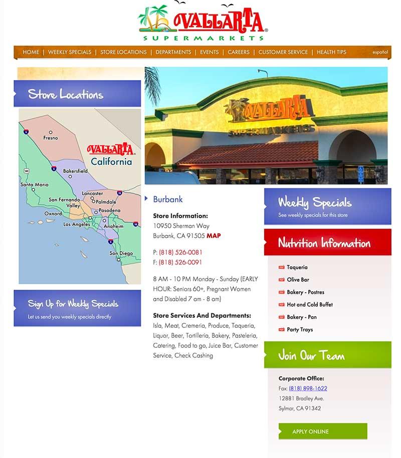 Vallarta supermarket location Sun Valley CA jose mier