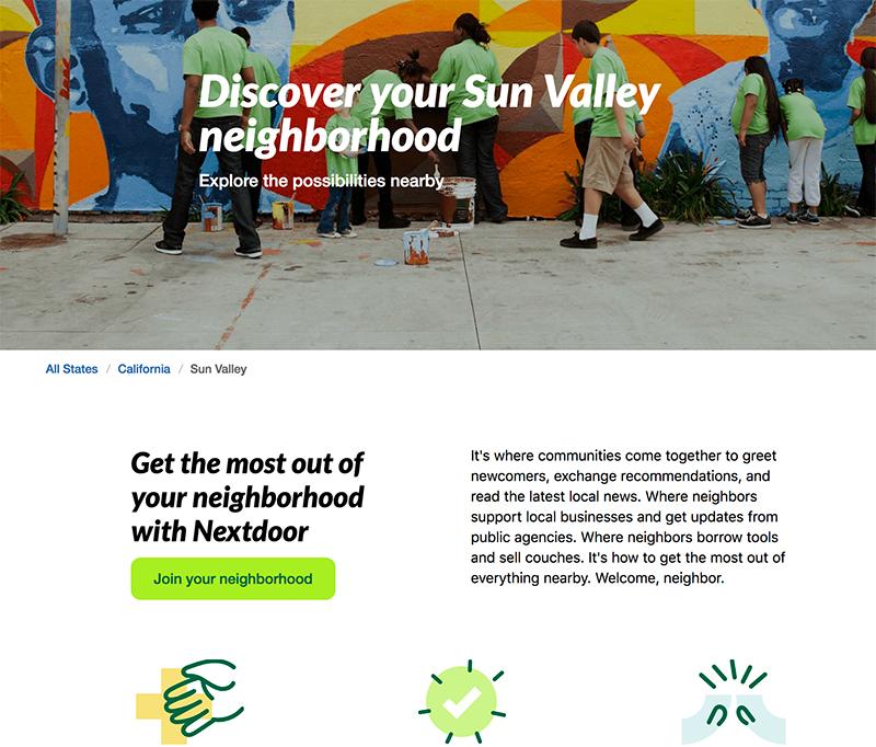 Nextdoor website screen shot by Jose Mier