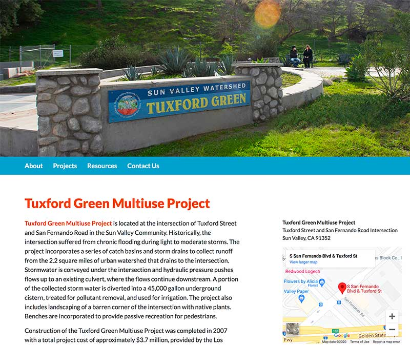 Tuxford Green in Sun Valley on LA COunty Website