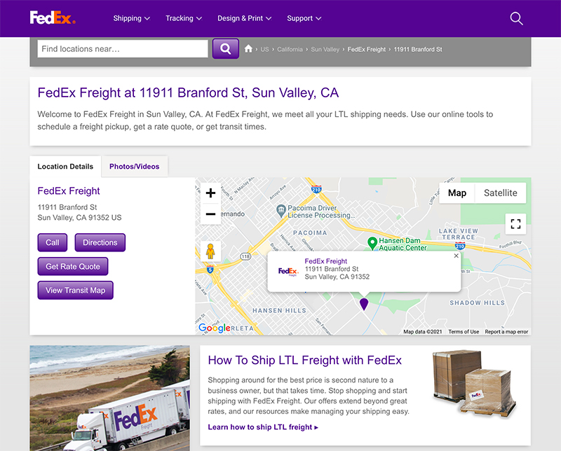 fedex freight site jose mier sun valley