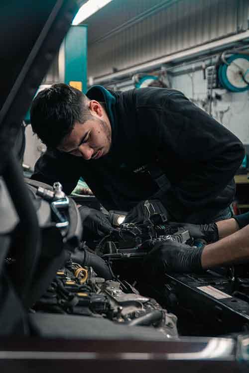 Jose Mier in Sun Valley auto salvage facility