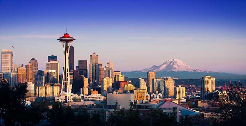 Jose Mier Seattle skyline on Sun Valley Trip